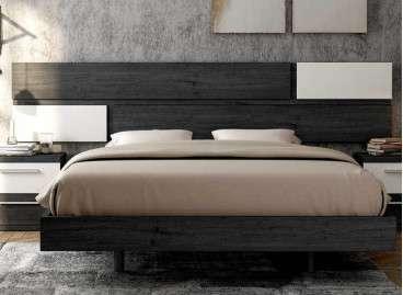 Cabecero de cama colgado Berna - Ebony