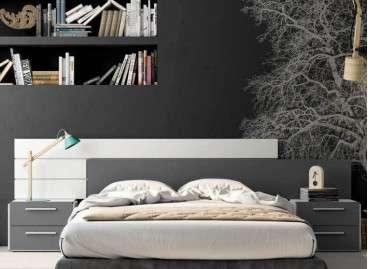 Cabecero de cama colgado Praga tipus galeria - Blanc soul