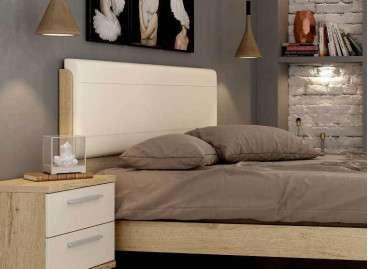 Capçal de llit alt amb entapissat Lyon barat - Bambú
