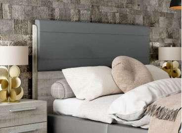 Cabecero de cama alto con tapizado Lyon barato - Coral