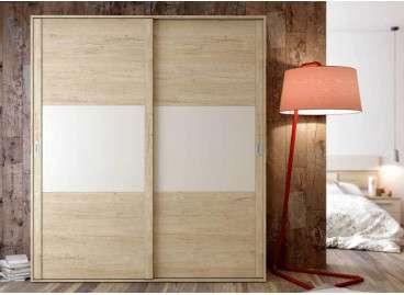 Armario con puertas correderas Luxor - Blanc soul