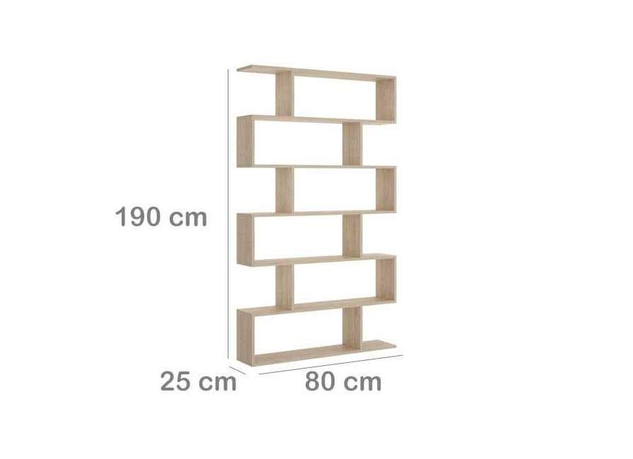 Estantería asimétrica alta de 80 cm de ancho