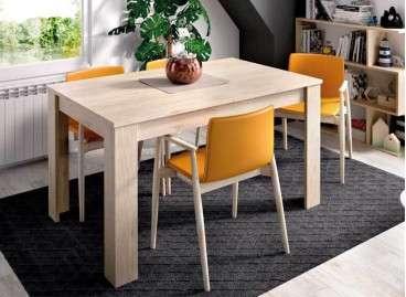 Mesa de comedor extensible de 140 a 190 cm - Natural