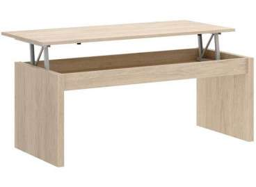 Mesa de centro elevable de 102 cm de ancho - Natural