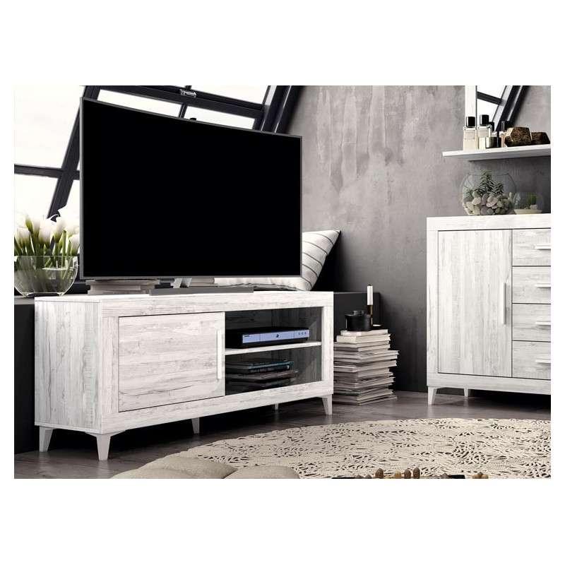 Mueble de TV ancho con patas