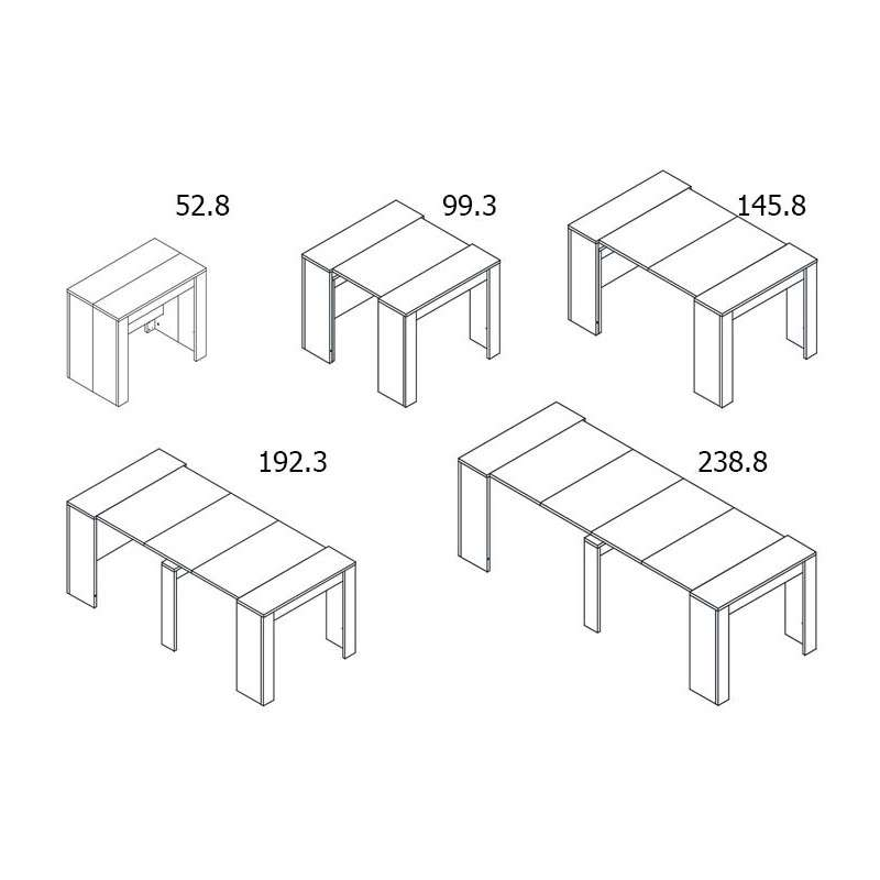 Mesas de comedor multifunción extensible