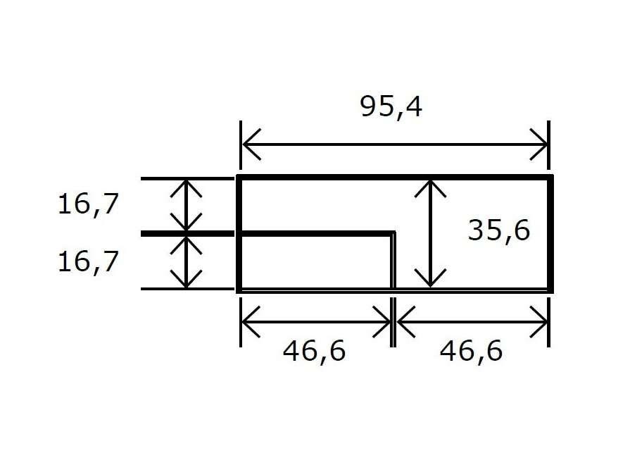 Mesas de centro fija con estante interior