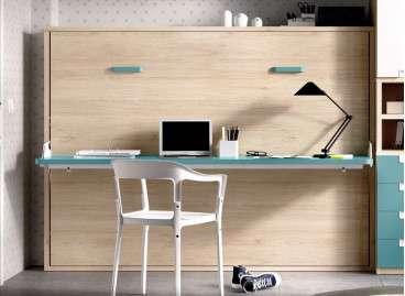 Llit individual abatible amb escriptori integrat