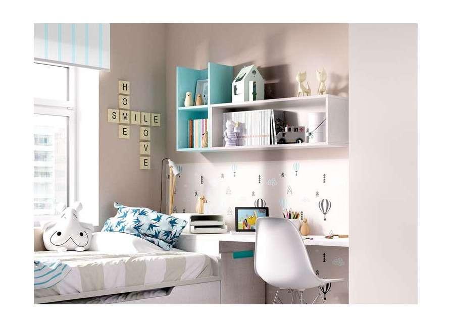 Habitació juvenil amb llit individual