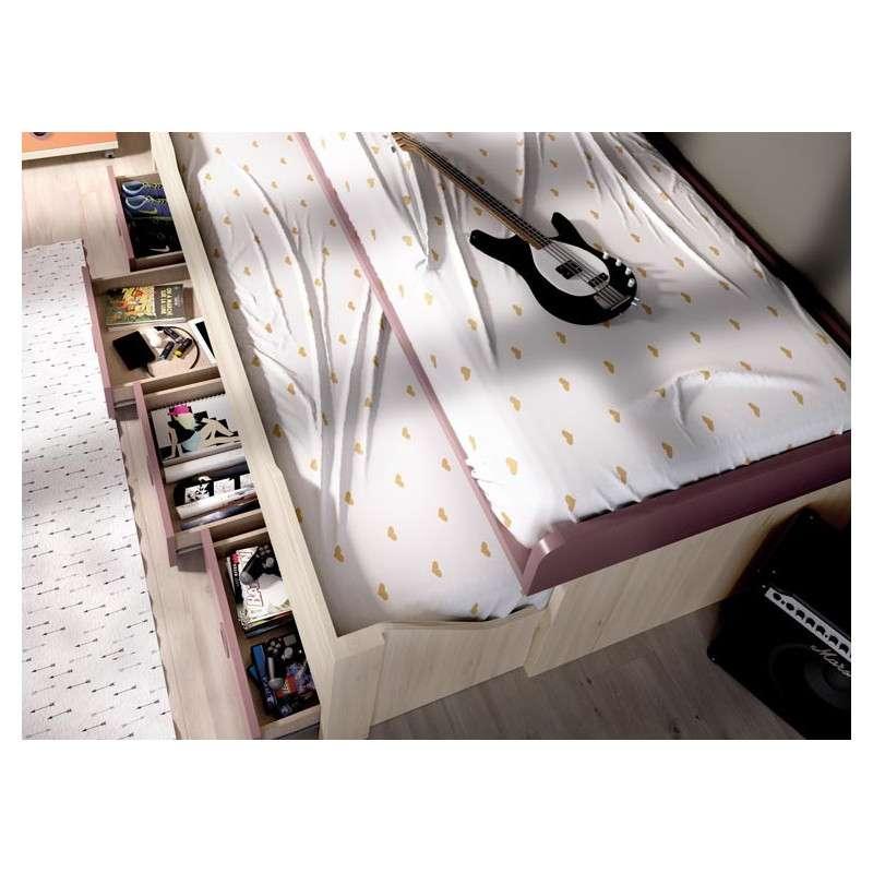 Composición juvenil con cama compacta y desplazable
