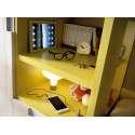 Habitación juvenil con cama compacta, armario y escritorio