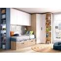 Habitació juvenil amb raconer i armari pont