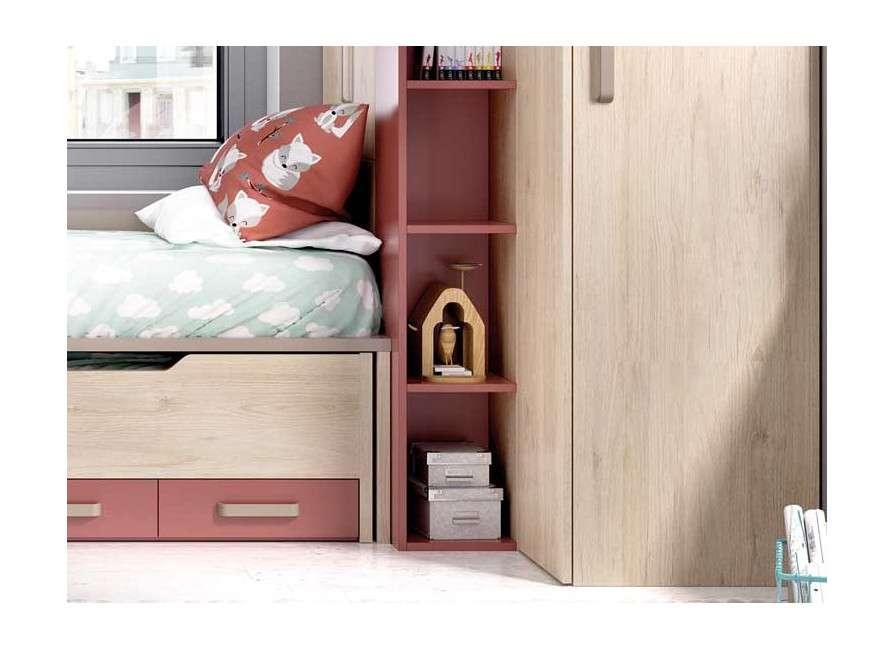 Composición juvenil ideal para habitaciones pequeñas