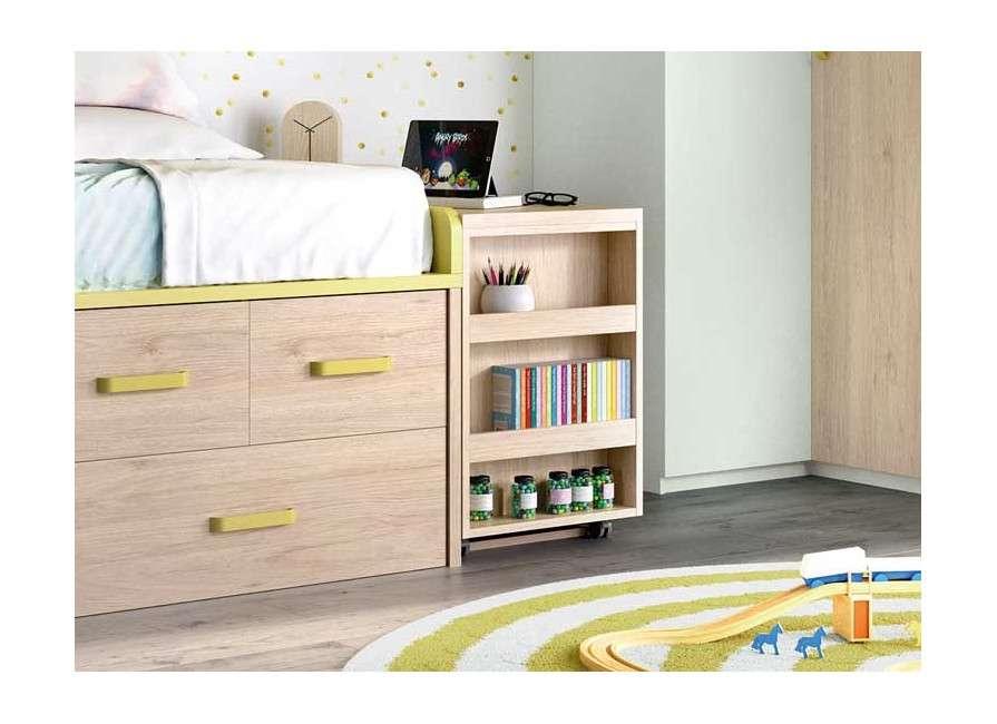 Composició juvenil amb armari raconer i arcó amb prestatges