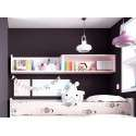 Conjunto para habitación juvenil con armario armario rinconero y escritorio