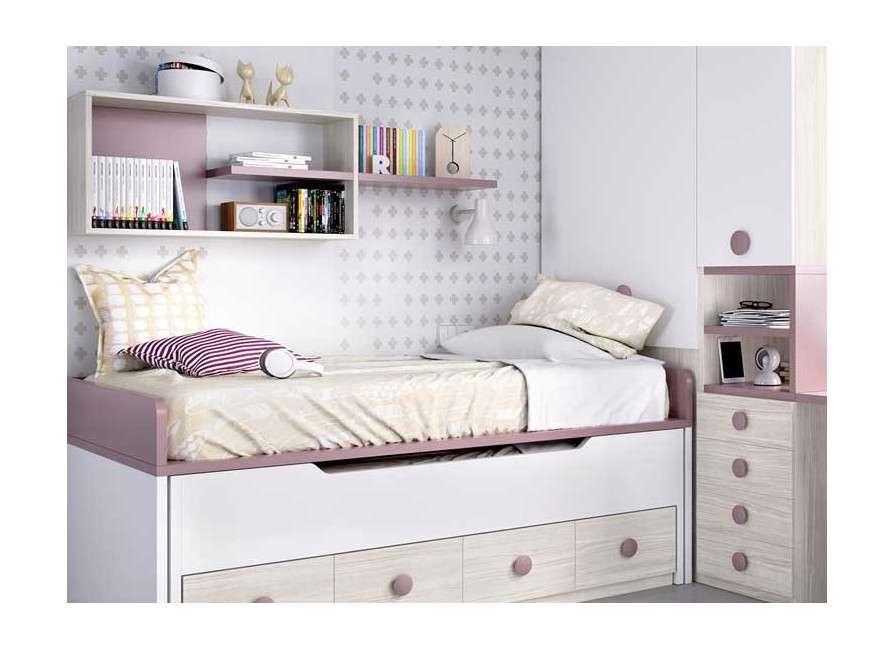 Habitació juvenil amb llit compacte i armari terminal