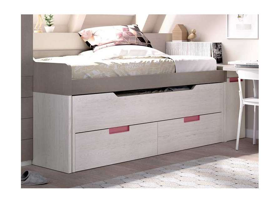 Conjunt juvenil amb llit compacte i desplaçable