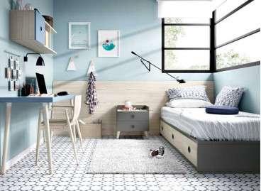 Habitació juvenil amb llit niu i excriptori