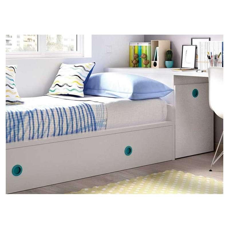 Muebles para habitaci n juvenil con cama nido y arc n zapatero - Cama nido arcon ...