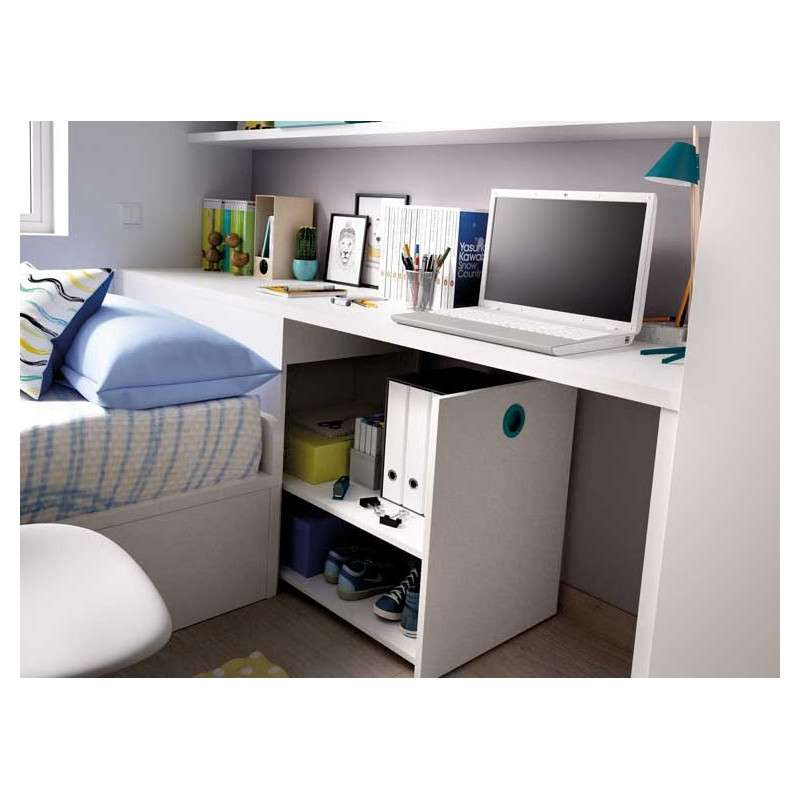 Muebles para habitaci n juvenil con cama nido y arc n zapatero for Habitacion juvenil cama nido