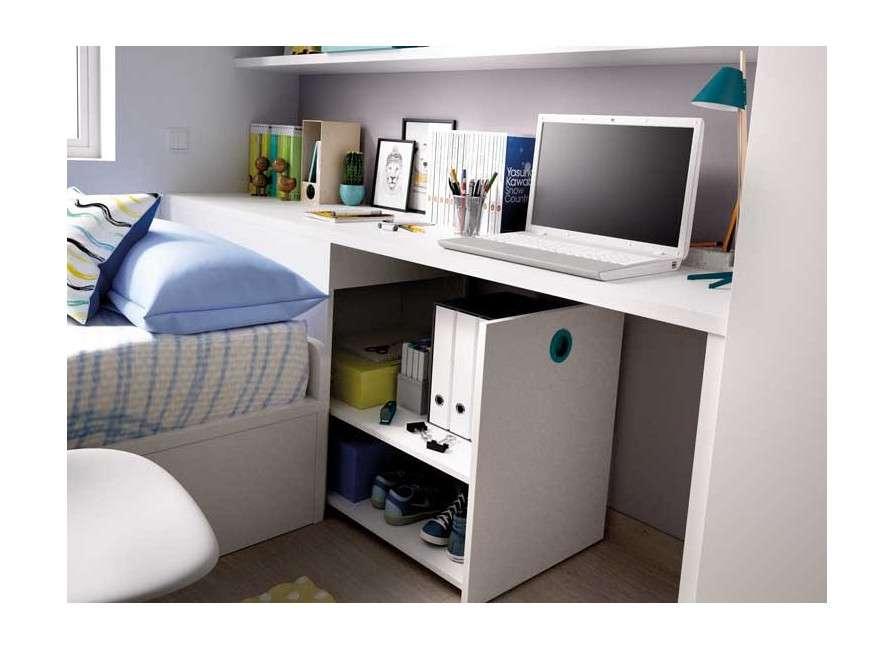 Mobles per a habitació juvenil amb llit niu i arcó sabater