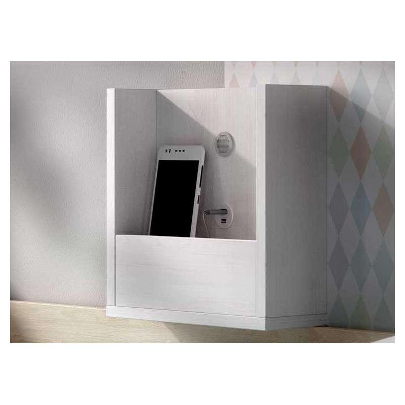 Habitación juvenil con cama nido y armario de 3 puertas