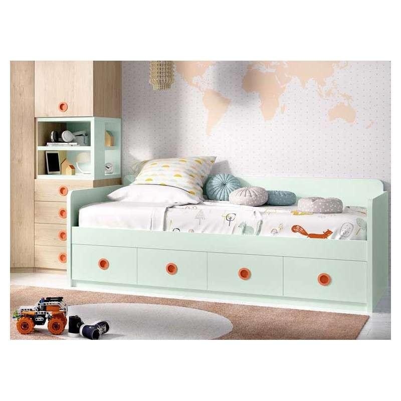 Habitació juvenil amb llit niu i gran raconer