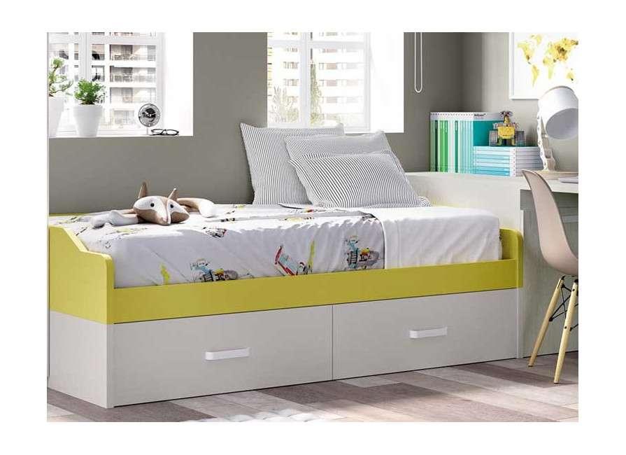 Habitación juvenil con cama nido completa