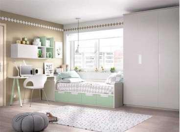 Habitación completa con cama nido y arcón