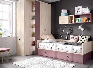 Habitació juvenil ideal per a habitació petita