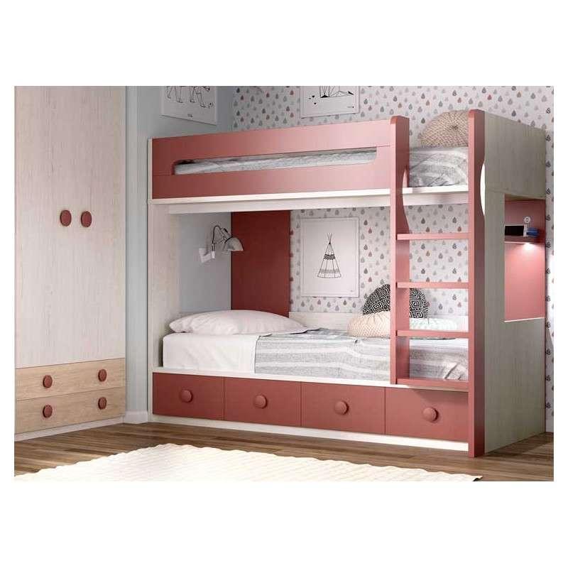 Habitació amb llitera i escriptori