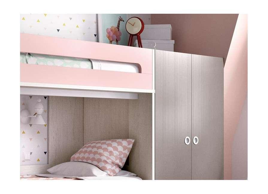 Conjunt de litera amb armari i escriptori
