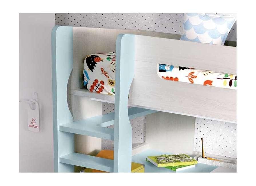 Llitera amb llit superior i escriptori amb calaixera