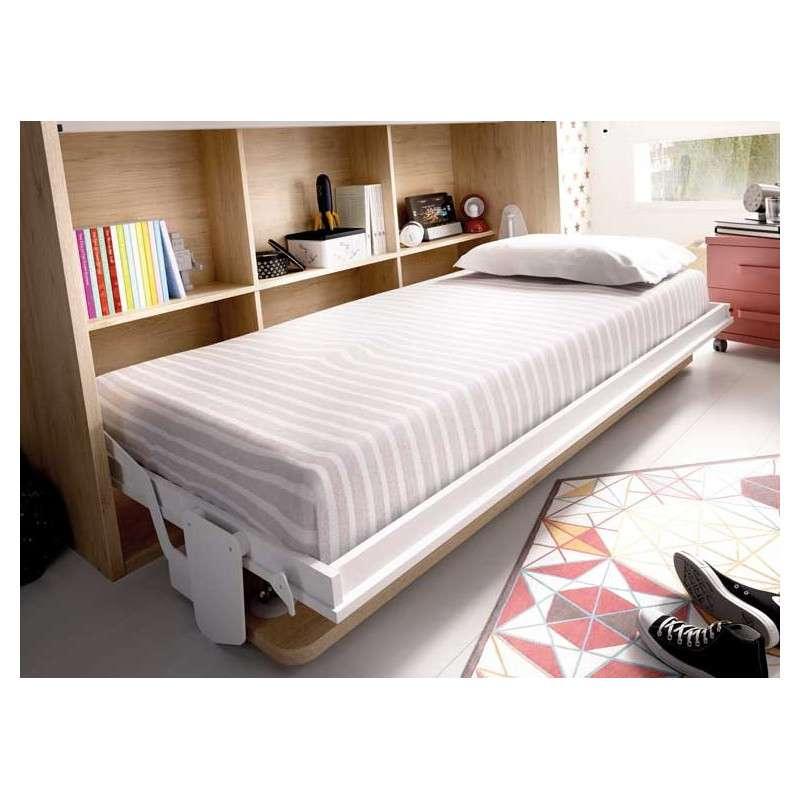 Conjunto de armario y cama abatible individual