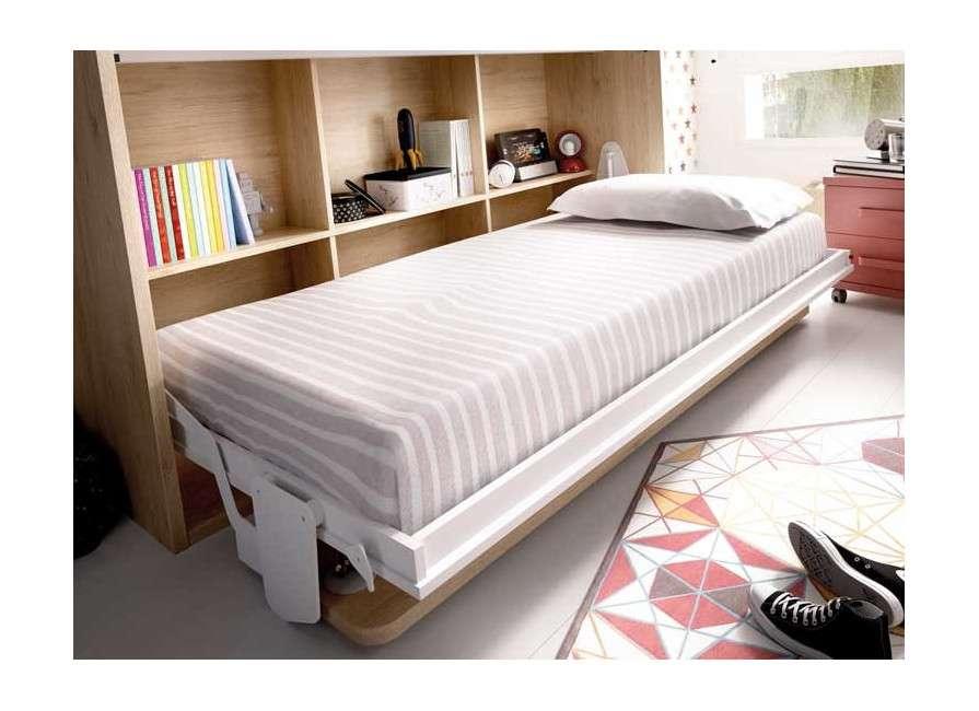 Conjunt d'armari i llit abatible individual