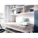 Habitació amb llit abatible individual i escriptori integrat