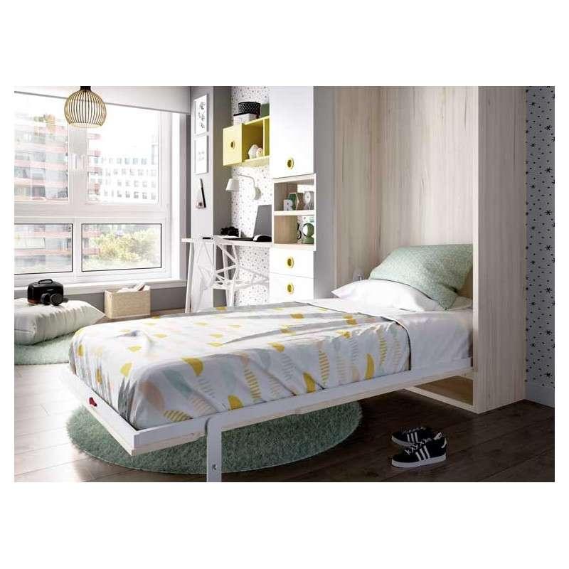 Composición juvenil con cama abatible vertical
