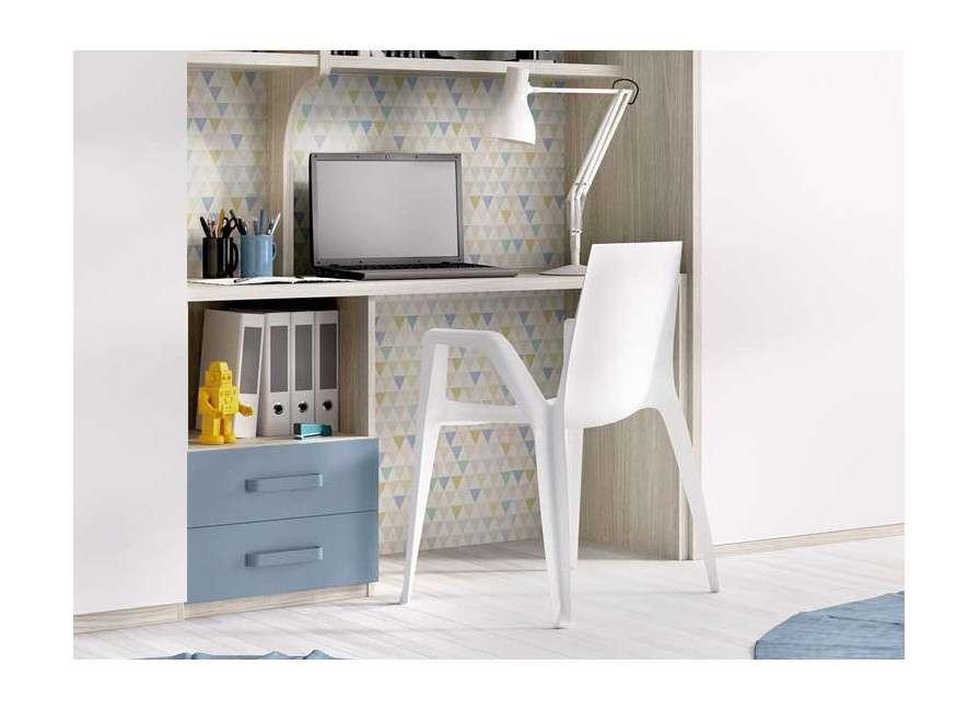 Composición de muebles con cama abatible vertical