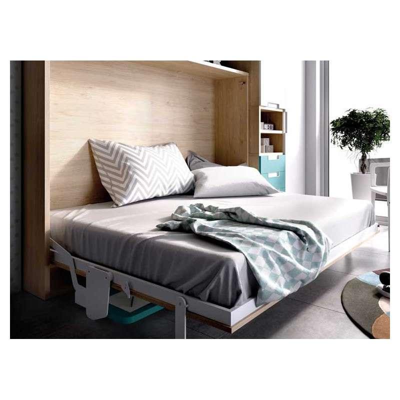 Conjunto con mueble cama abatible vertical de 135 cm - Camas abatibles 135 ...