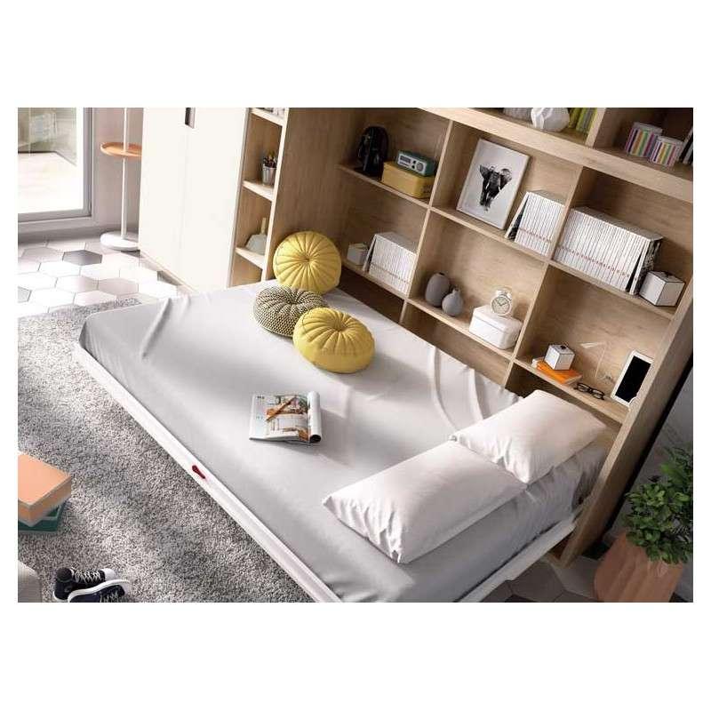 Conjunto con cama abatible y estantería
