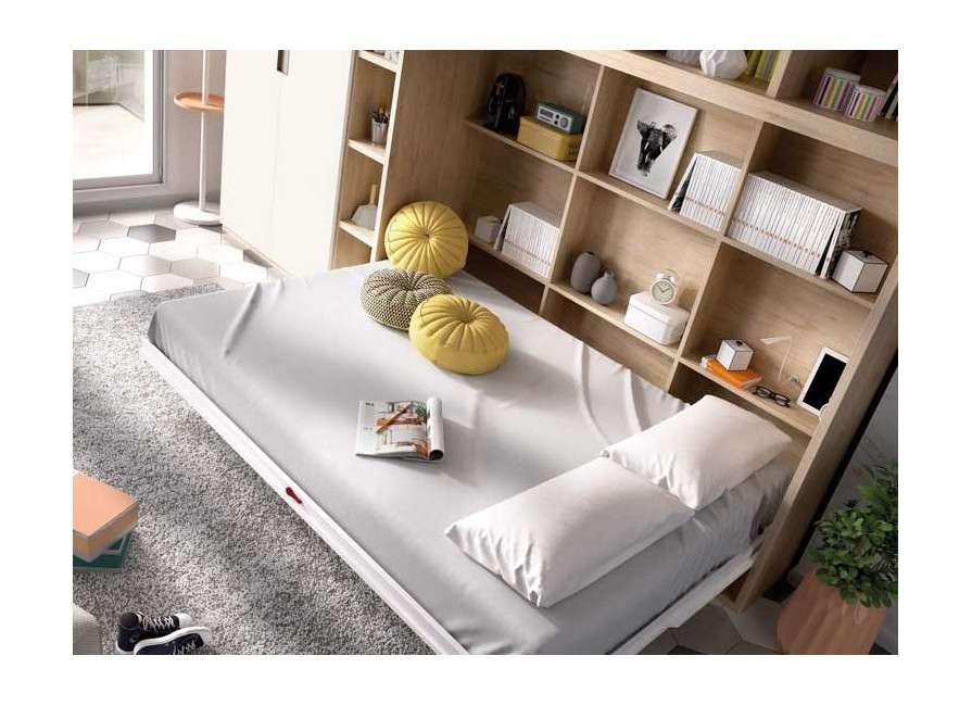 Conjunt amb llit abatible i prestatgeria