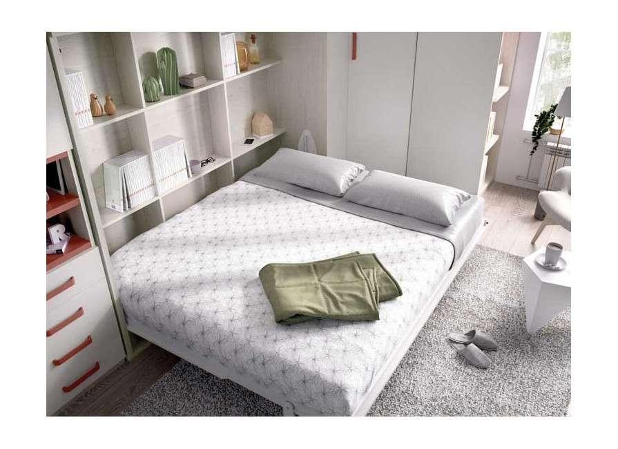 Dormitorio completo con cama abatible