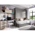 Dormitori amb llit niu i abatible