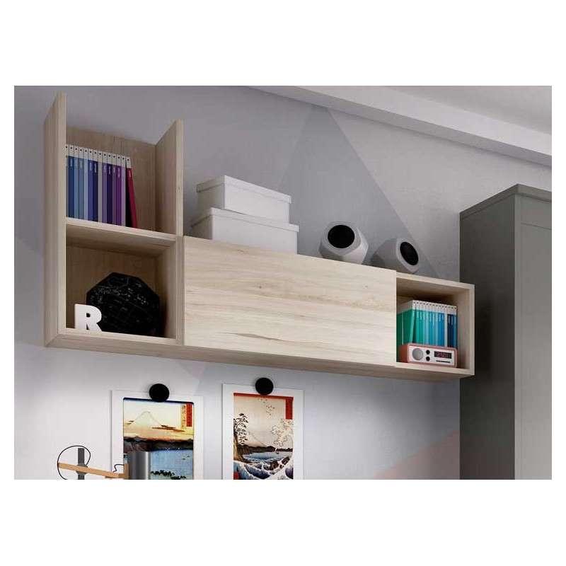 Dormitorio con cama nido y abatible
