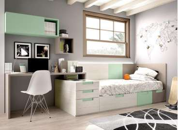 Habitació juvenil completa amb llit modular