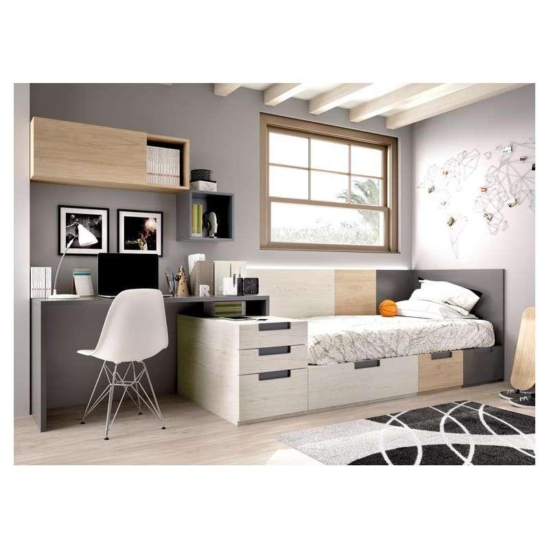 Habitación juvenil completa con cama nido