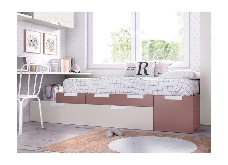 Habitación completa con cama nido modular