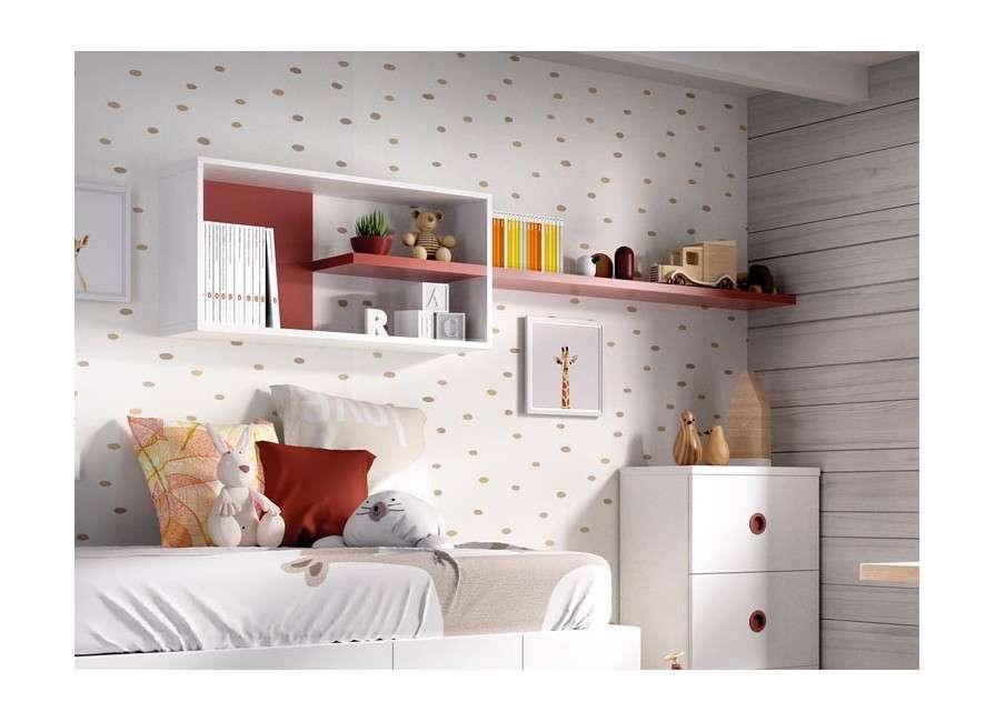 Conjunt de mobles juvenils amb llit niu  modular