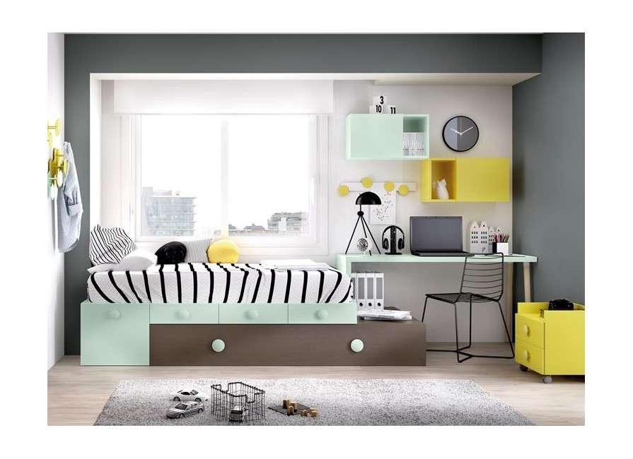 Conjunt juvenil amb llit niu modular