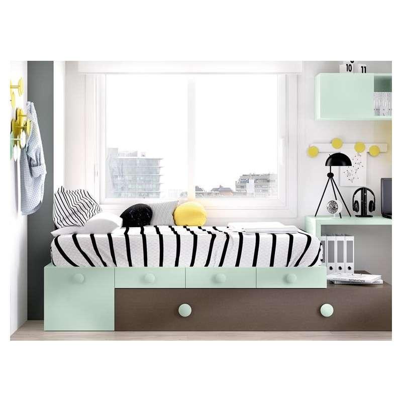 Conjunto juvenil con cama nido modular